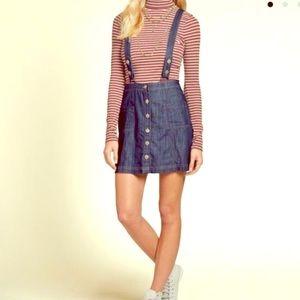 Hollister Denim Overalls Pinafore Dress/Jumper